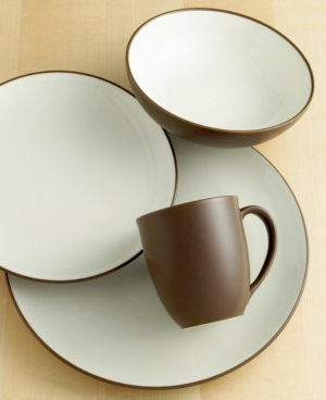 Noritake Dinnerware, Colorwave Chocolate Coupe 4 Piece Place Setting