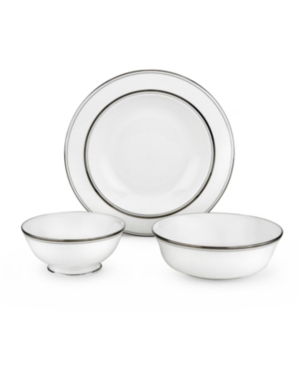 kate spade new york Dinnerware, Library Lane Platinum Round Serving Bowl