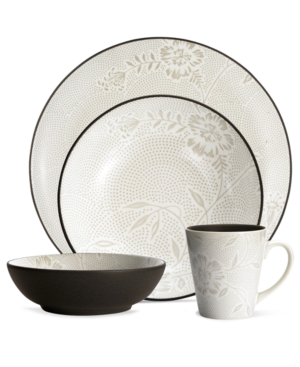 Noritake Dinnerware, Colorwave Chocolate Bloom 4 Piece Place Setting