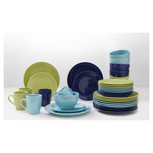 House x Home 16 piece Round Green Anton Dinnerset
