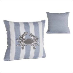 Pomp and Ceremony - Square Crab Cushion in Blue - Cushions
