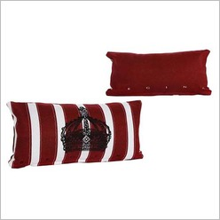 Pomp and Ceremony - Crown Cushion in Red - Cushions