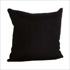 Stoneleigh & Roberson - Square Zing Cushion in Black Groove Size: 45 cm x 45 cm - Cushions