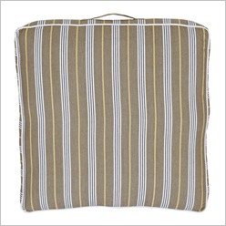 IDC - Lauren Floor Cushion in Taupe/Charcoal/Mustard - Outdoor Cushions