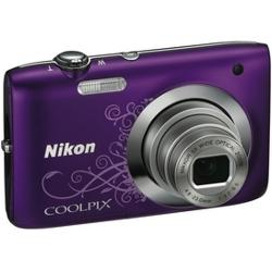 Coolpix S2600 Purple Pattern