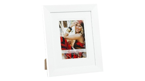 "UR1 Cassandra 8"" x 10"" with 5"" x 7"" Opening Photo Frame - White"