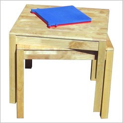 Q Toys - Rubber Wood Square Table - Dining Tables