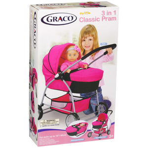 Graco 3 in 1 Pink Carriage and Stroller