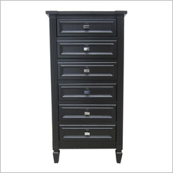 CAFE Lighting - Mercer Tallboy in Black - Tallboys & Chests of Drawers