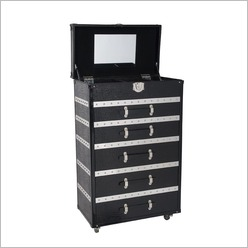 CAFE Lighting - Sutton Tallboy in Black - Tallboys & Chests of Drawers
