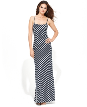 INC International Concepts Dress, Spaghetti-Strap Striped Maxi