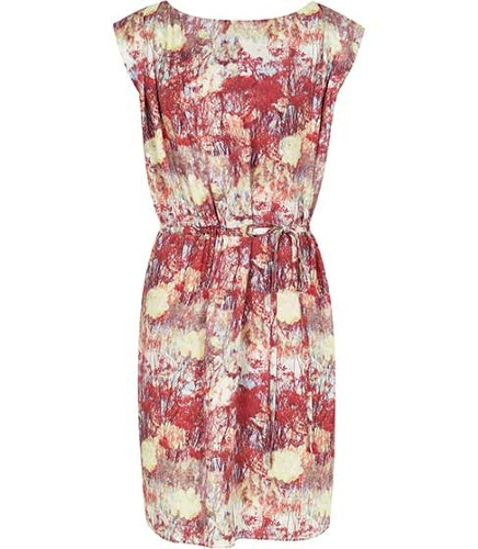Reiss Brio PRINTED TIE SIDE DRESS