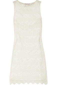 Agape cotton-lace mini dress