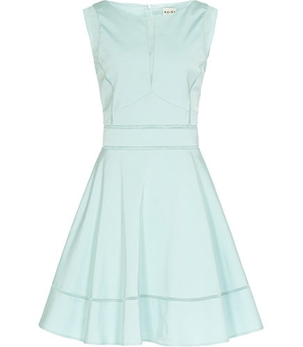 Reiss Mia CONTRAST DETAIL FIT AND FLARE DRESS