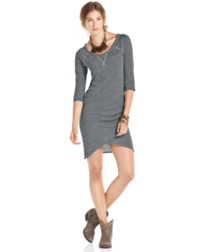 Free People Dress, Three-Quarter Scoop-Neck Sweater
