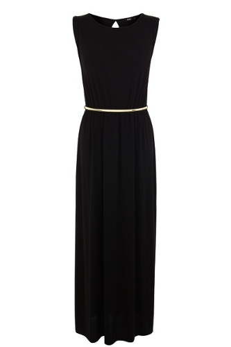 Side Split Slinky Maxi Dress