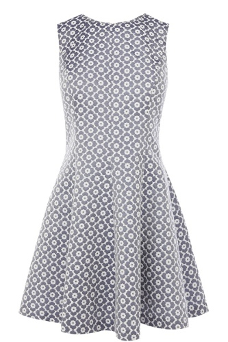 Jacquard Cutout Dress