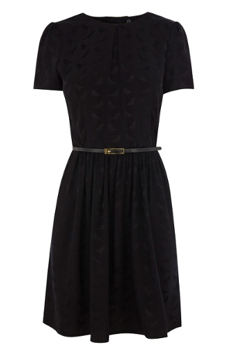 Bird Jacquard Skater Dress