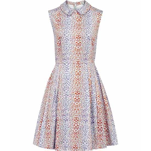 Reiss Hudson FIT AND FLARE COLLARED DRESS