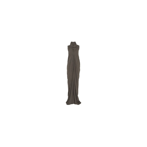 Draped woven gown