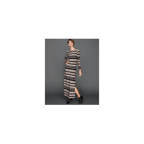 INC International Concepts Dress, Long-Sleeve Striped Maxi