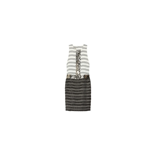 Rasminel embellished striped tweed dress