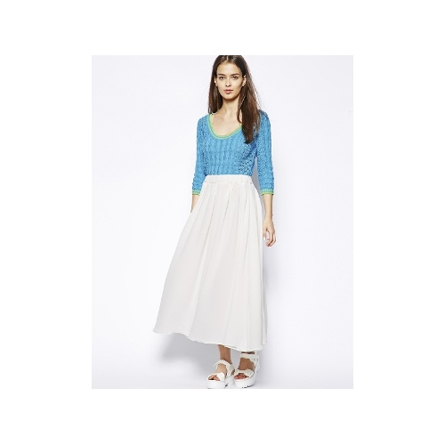 Noreen Midi Dress With Pleated Skirt