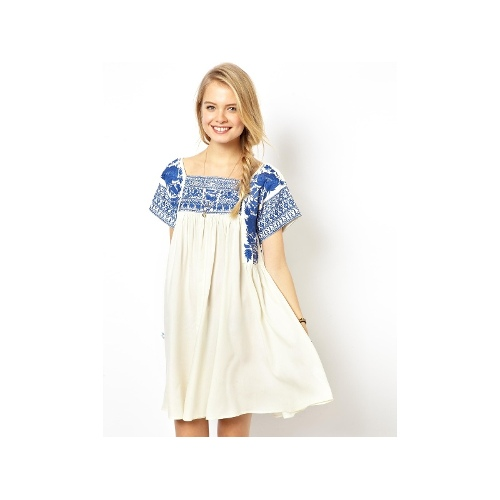 Premium Swing Dress With Embroidery