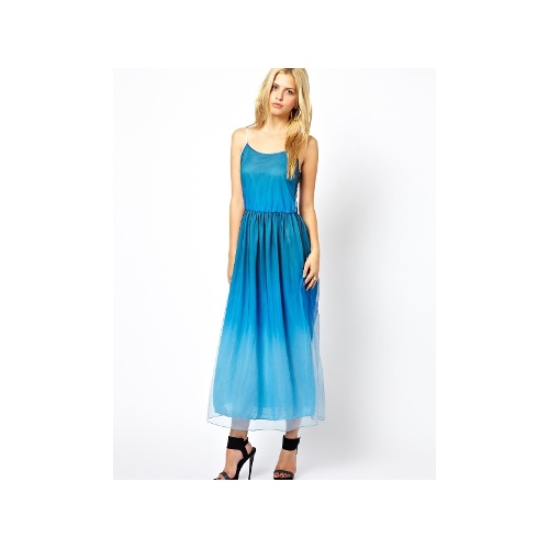 Phoebe Mesh Dress in Dip Dye