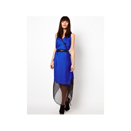 Solange Draped Wrap Dress