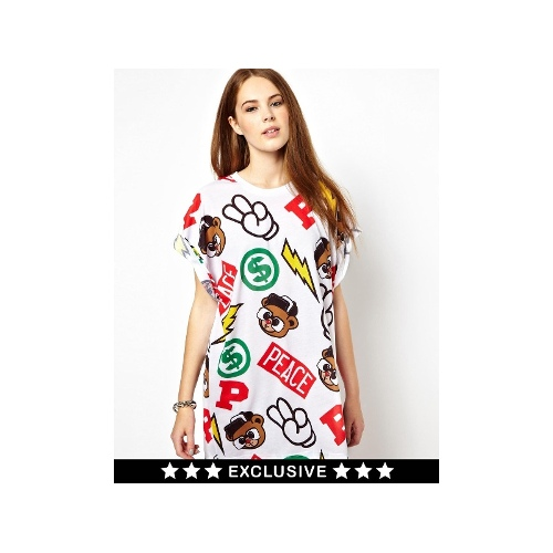 All Over Print T-Shirt Dress (Exclusive to ASOS)