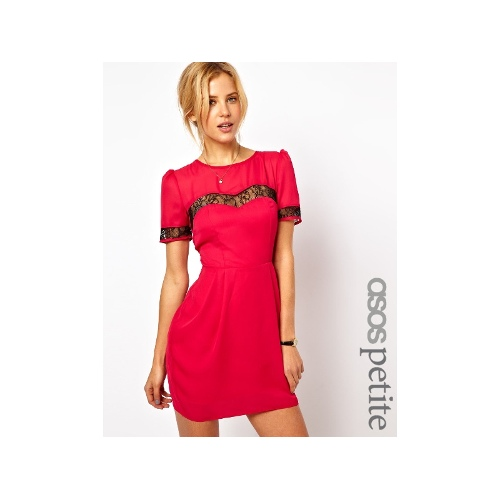Tulip Dress With Lace Insert