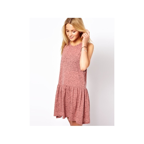 Smock Dress In Texture With Drop Armhole