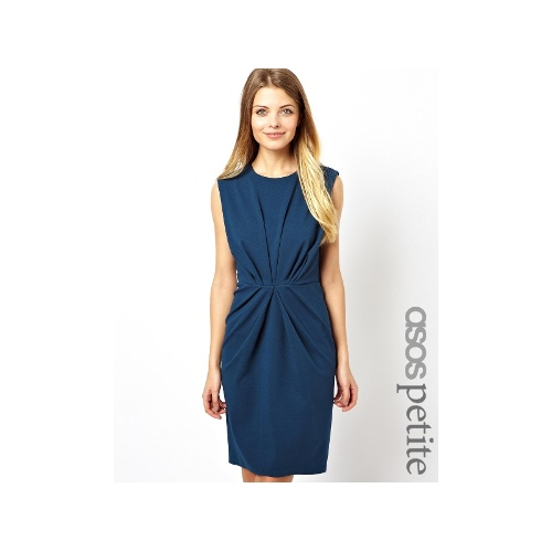 Pleat Waist Pencil Dress