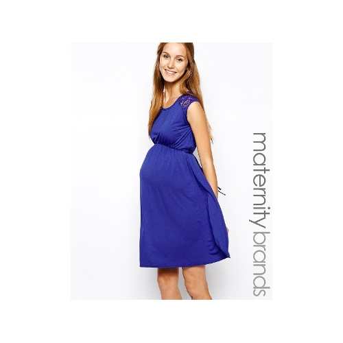 Maternity Dress With Lace Sleeve