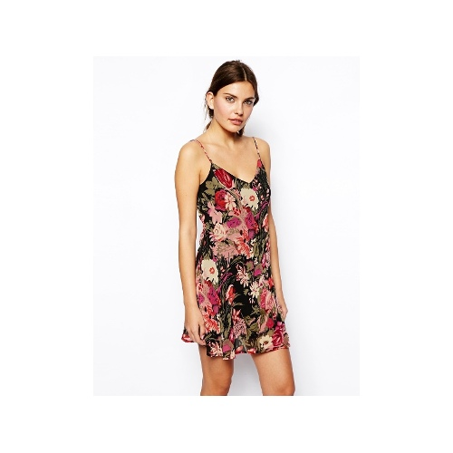 Floral Sundress With Double Layer