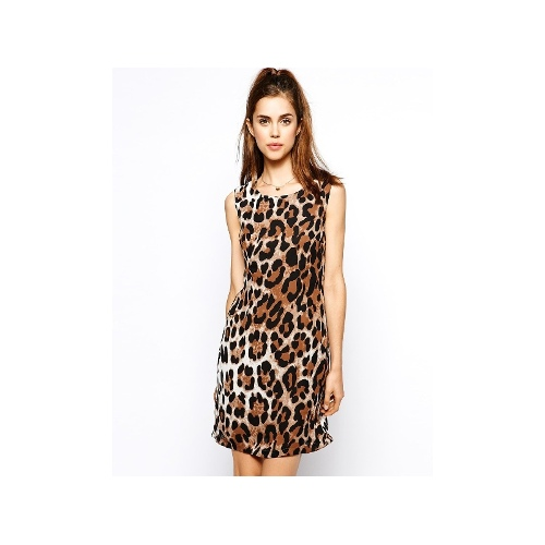 Max C Leopard Shift Dress