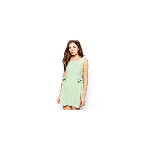 Jovonnista Mira Dress with Bow Detail - Mint green