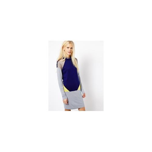 Esprit Colour Block Jumper Dress