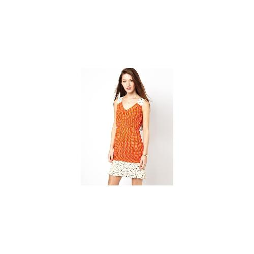 Traffic People Katie Print Pleated Dress