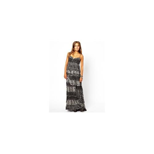 Denim & Supply by Ralph Lauren Rouched Maxi Dress In Aztec Print - Tribal print