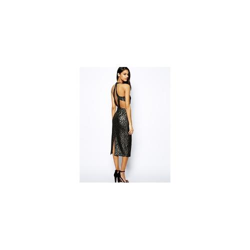 Jovonna Gia Dress with Cut Out Back - Black