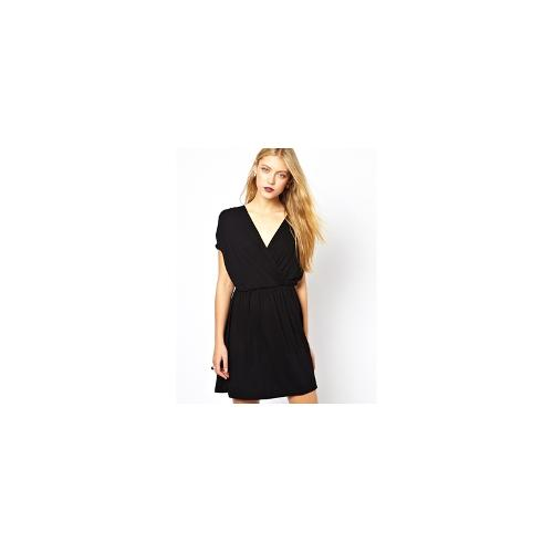 ASOS Skater Dress With Ruched Wrap