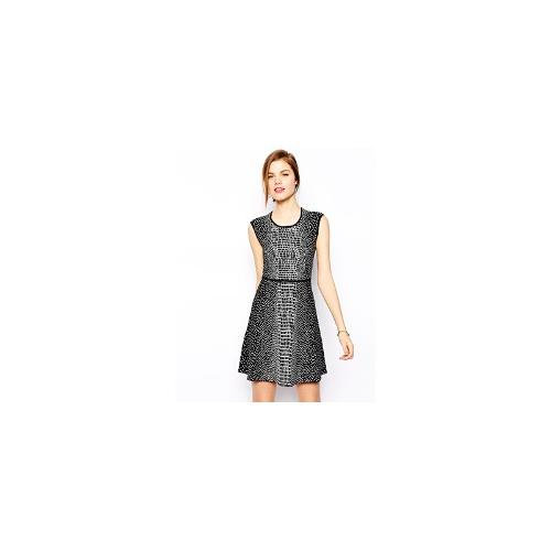 BCBGMAXAZRIA Dina Dress in Croc Jacquard Knit