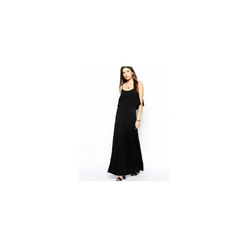 BCBGeneration Maxi Dress with Off Shoulder Detail - Black