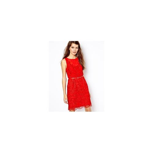Oasis Lace Dress - Red