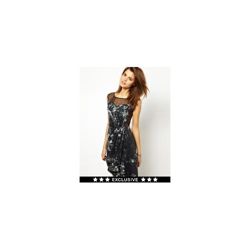 2nd Day Exclusive for ASOS Neva Sequinned Dress with Sheer Panelling