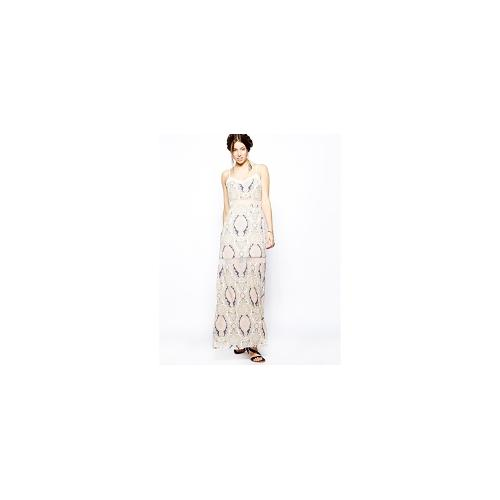 BCBGeneration Maxi Dress with Lace Insert