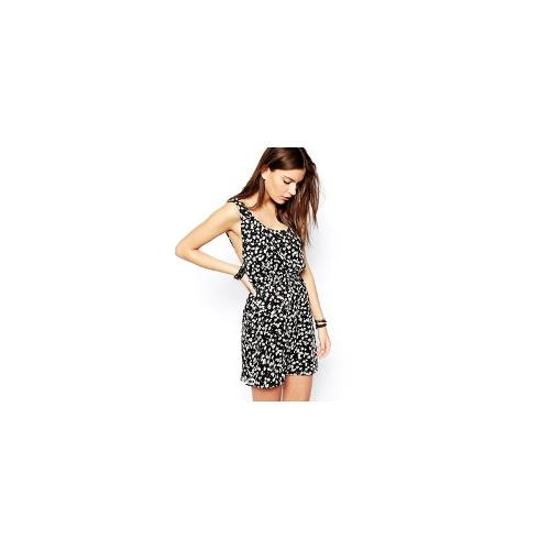 BCBGeneration Pinafore Dress in Ditsy Print