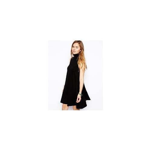 ASOS Swing Dress With Polo Neck